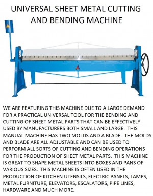 machine for cutting and bending sheet metal